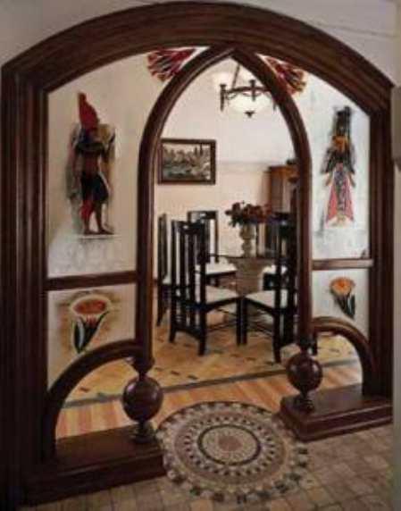Арка между кухней и гостиной – элемент декора и зонирования