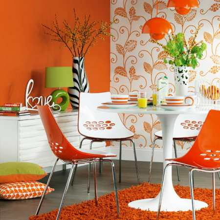 Оранжевые кухни: дизайн для позитивных людей