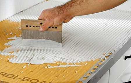 Кухонная столешница из плитки своими руками: поэтапная инструкция