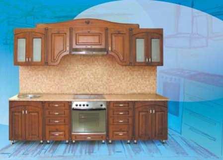 Кухонный гарнитур из дерева – прочность и изящество