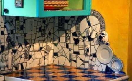 Мозаика на стене кухни своими руками