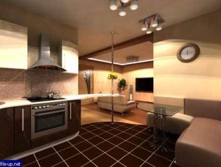 Кухни для квартиры студии – секреты дизайна