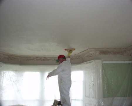 Подробная инструкция как правильно шпаклевать потолок