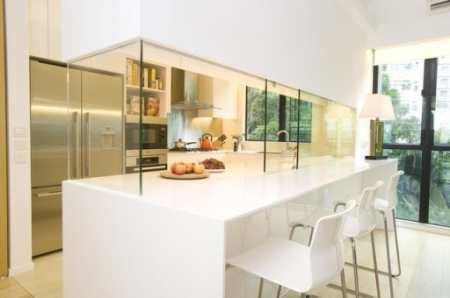 Нежный фьюжн в современном дизайне кухни столовой с восточным колоритом