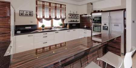 Примеры кухни цвета зебрано: 23 интерьера с африканским колоритом